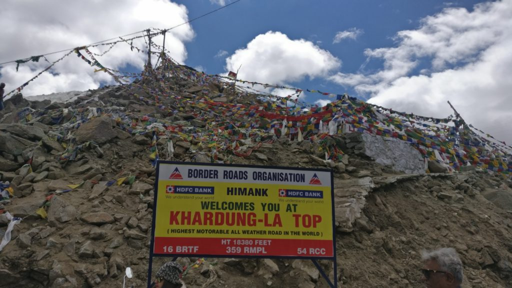 Khardung La in Leh district of the Indian union territory of Ladakh
