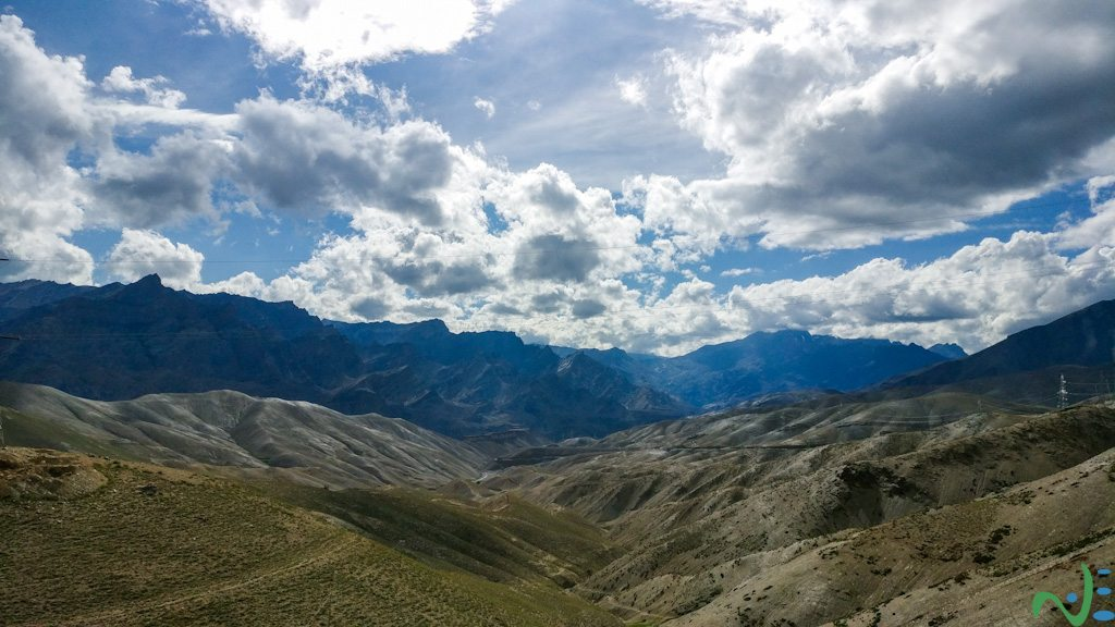A panoramic mountains view of Leh Ladakh