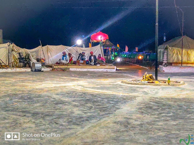 Night activities in a desert camp in sand dunes of Jaisalmer Rajasthan