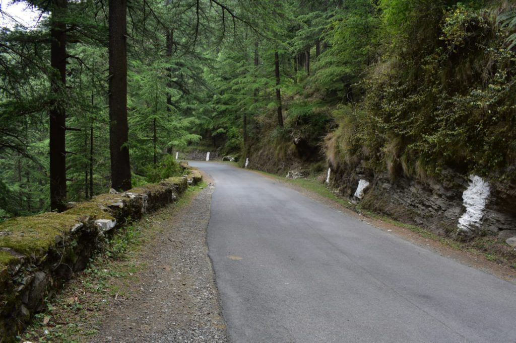 Reaching chail by road