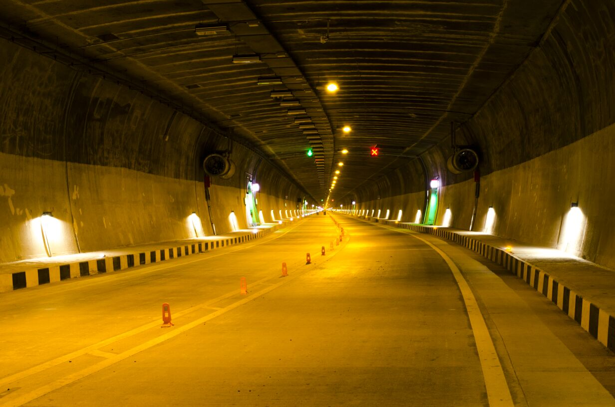 longest tunnel in india