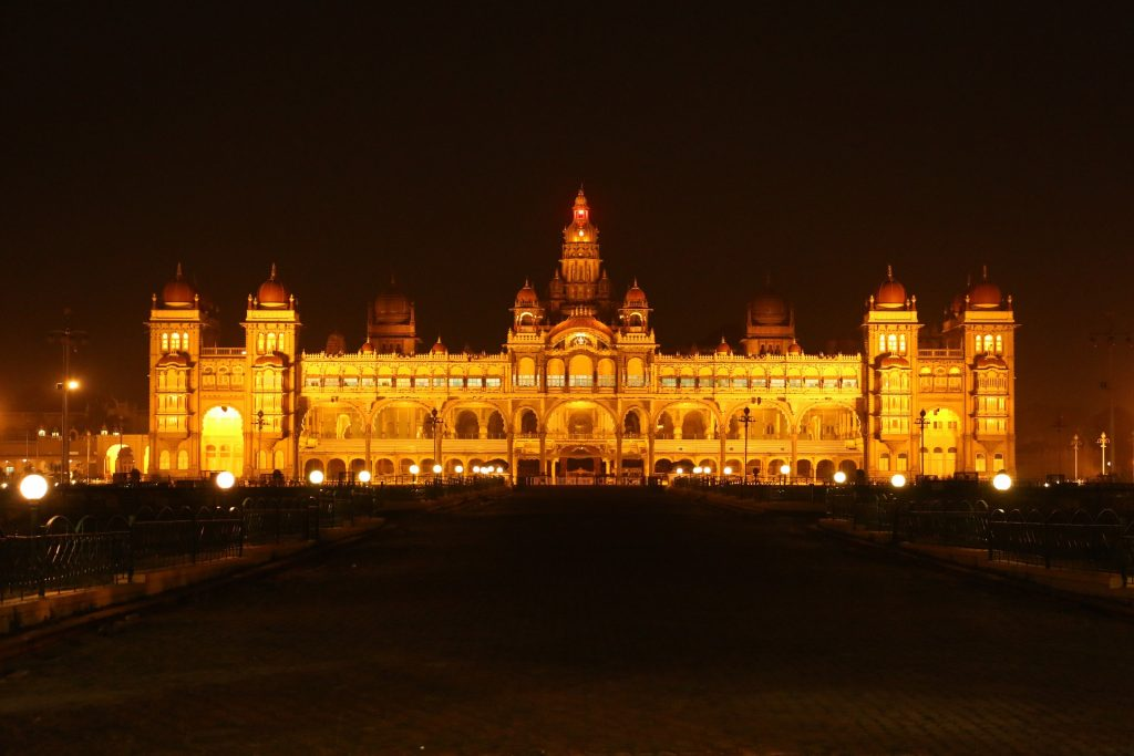 Mysore Palace during night