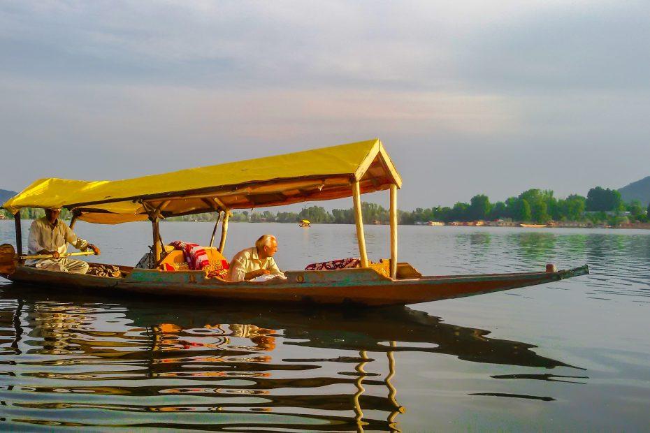 Shikara ride in Dal lake Srinagar kashmir